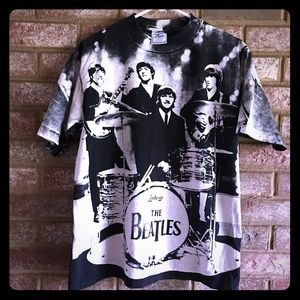 Vintage The Beatles all over print Band shirt